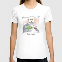 monet T-shirts featuring Claude Monet by Lucy Weigard