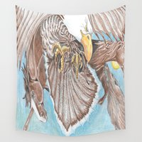 guardians Wall Tapestries featuring Guardians by Connie Campbell