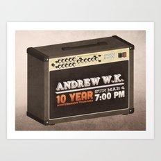 Andrew W.K. Art Print