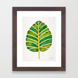 Elephant Ear Alocasia – Green Palette Framed Art Print
