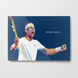 Rafael Nadal Pop Art Metal Print
