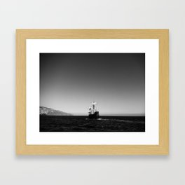 Vint B&W – Ship Framed Art Print