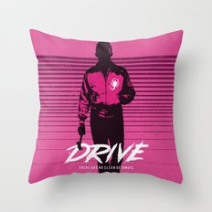 Drive art movie inspired Throw Pillow