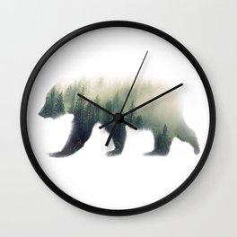 Grizzly Bear Dream Wall Clock