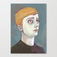 kieren walker Canvas Prints featuring Kieren Walker by meenie