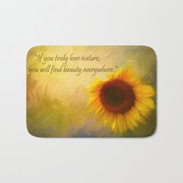 Sunflower Love Bath Mat