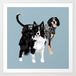 Davie and Emmi Art Print