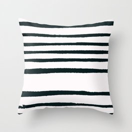 Abstract geometrical hand painted brushstrokes stripes Throw Pillow