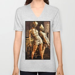 Deadly Duo Silent Hill Nurses Unisex V-Neck