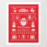 Merry Scroogedmas Art Print
