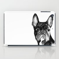 french iPad Cases featuring French Bulldog by James Peart
