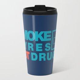 SMOKE TYRES NOT DRUGS v2 HQvector Travel Mug