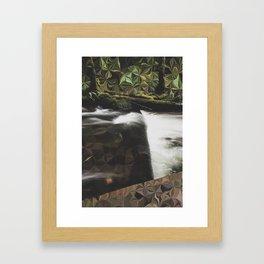 Starburst River Framed Art Print