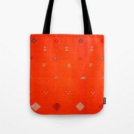 N6 | Vintage Orange Anthropologie Moroccan Artwork. Tote Bag