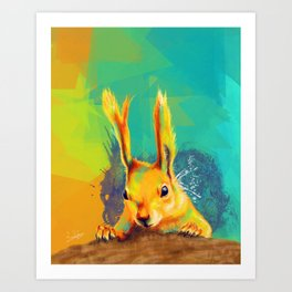 Tassel-eared Squirrel Art Print