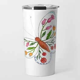 Floral Butterfly 2 Travel Mug