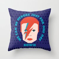heroes Throw Pillows featuring Heroes by Gigglebox