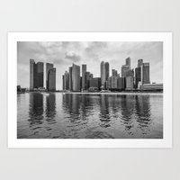 singapore Art Prints featuring SINGAPORE 10 by Tom Uhlenberg