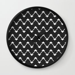 Jute in Black and White Wall Clock