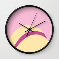 tyler spangler Wall Clocks featuring Rose Tyler by Berryofficial