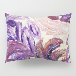 Purple Leaves with Gold Flakes Pillow Sham