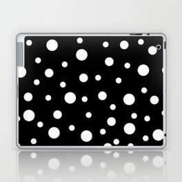 White Dots on Black 02 Laptop & iPad Skin