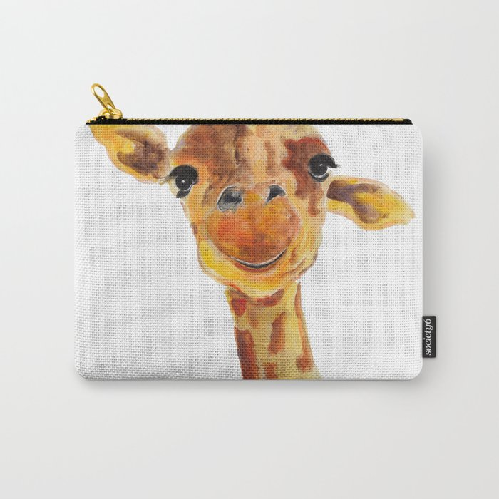 Cute Giraffe ' TOMMY ' by Shirley MacArthur Carry-All Pouch
