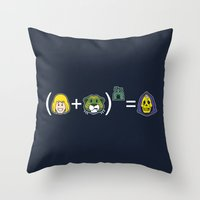 math Throw Pillows featuring He-Math by Mike Handy Art
