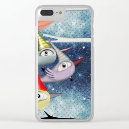 Birds following the stars Clear iPhone Case