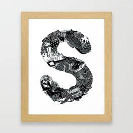 Letter S Framed Art Print