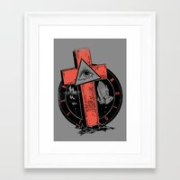religion Framed Art Prints featuring Religion by Tshirt-Factory