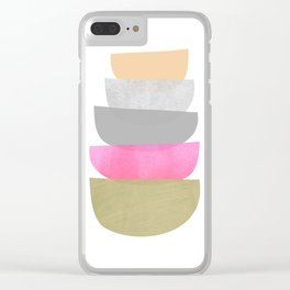Balance, Mid Century Modern Art Clear iPhone Case