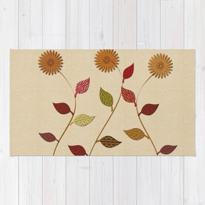 Giving Thanks Floral Collage Rug