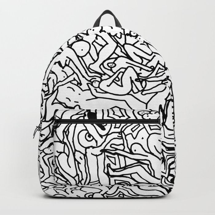 Lots of Bodies Doodle - Closeup Backpack