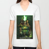 dragon age inquisition V-neck T-shirts featuring The Inquisition by Nero749
