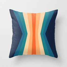 70's Retro Reflection Throw Pillow