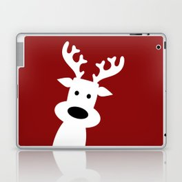 Reindeer on red background Laptop & iPad Skin