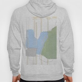 stone by stone 1 - abstract art fresh color turquoise, mint, purple, white, gray Hoody