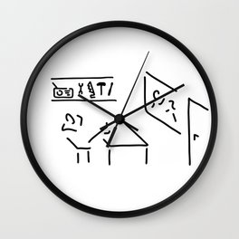 janitor doorman craftsman Wall Clock
