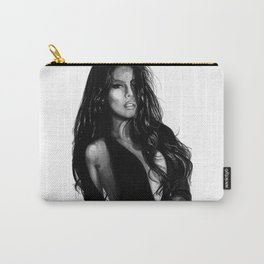 Nathalia Castellon - Sexy Girl In Black Carry-All Pouch