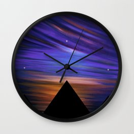 ESCAPE - Pyramids Silhouette Wall Clock