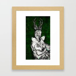 The wolf and the halla Framed Art Print