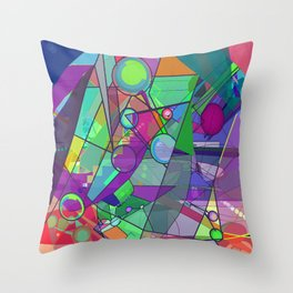 Searching for a New Angle Throw Pillow