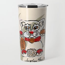 Two Paws Up Do Protection Lucky Cat Travel Mug