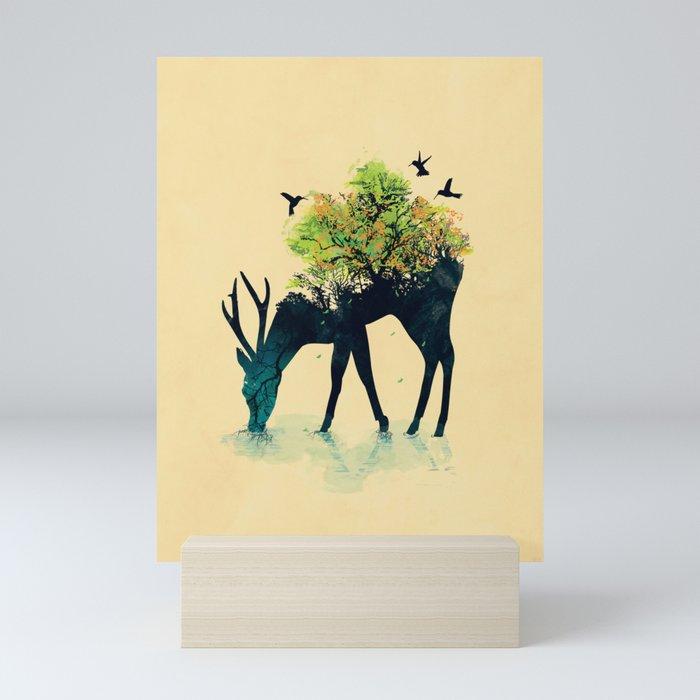 Watering (A Life Into Itself) Mini Art Print