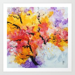 Abstraction on a tree Art Print