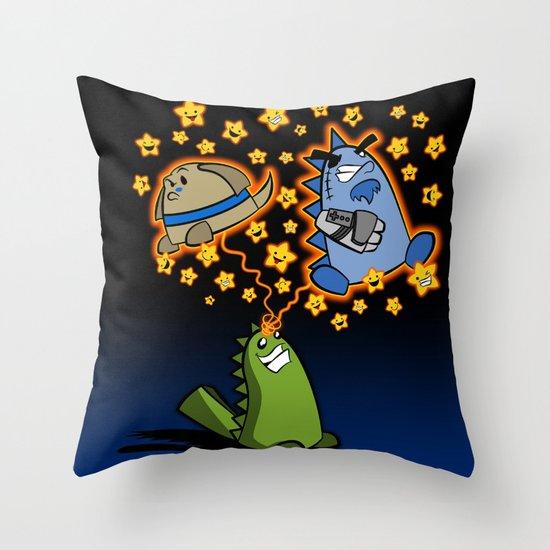 Candy the Magic Dinosaur Throw Pillow
