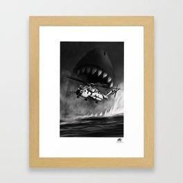 CH-53 vs Megaladon Framed Art Print