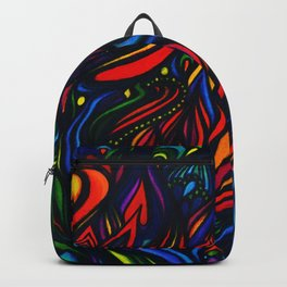 Flowers in Flame Backpack