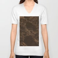 marble V-neck T-shirts featuring Marble by Norms